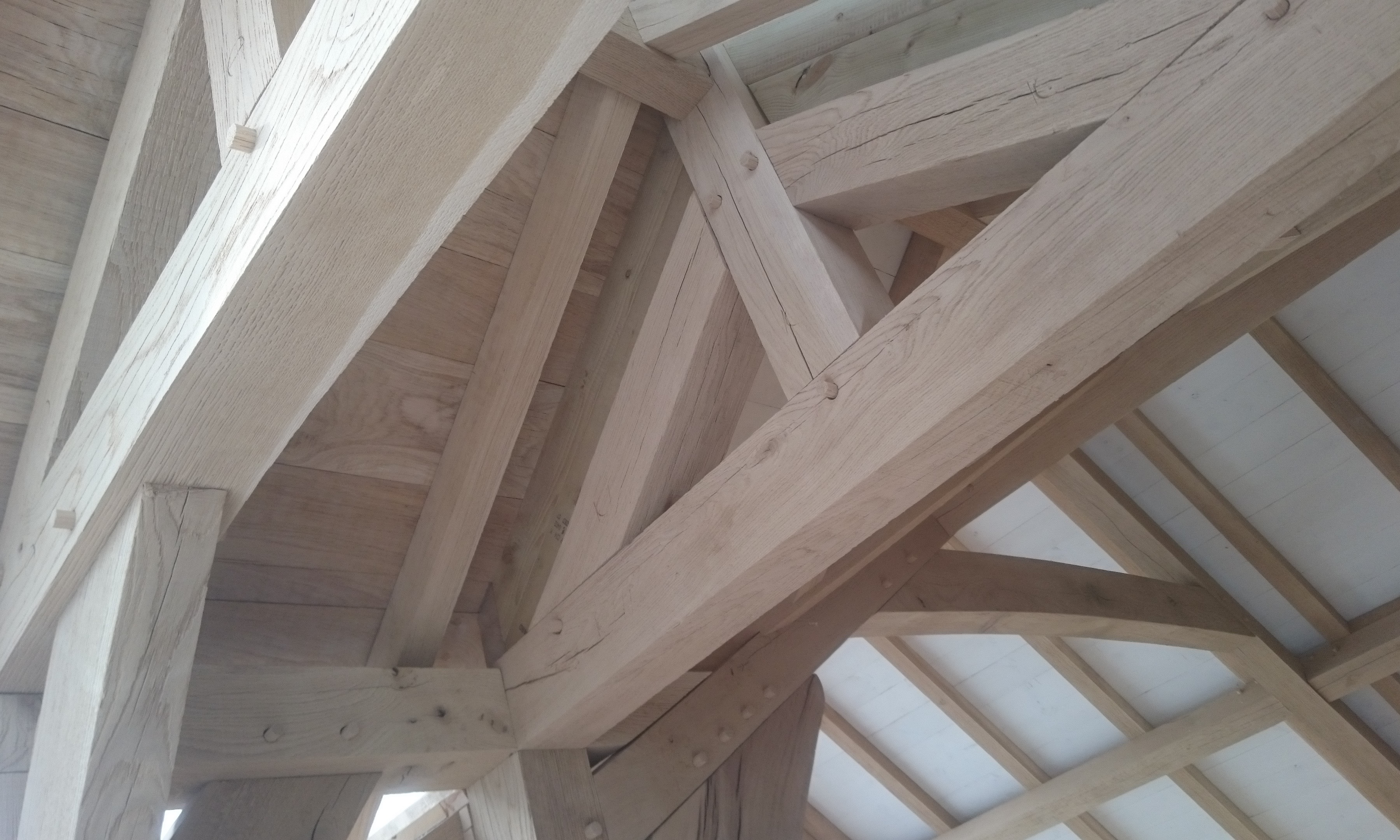 oak frame roof structure